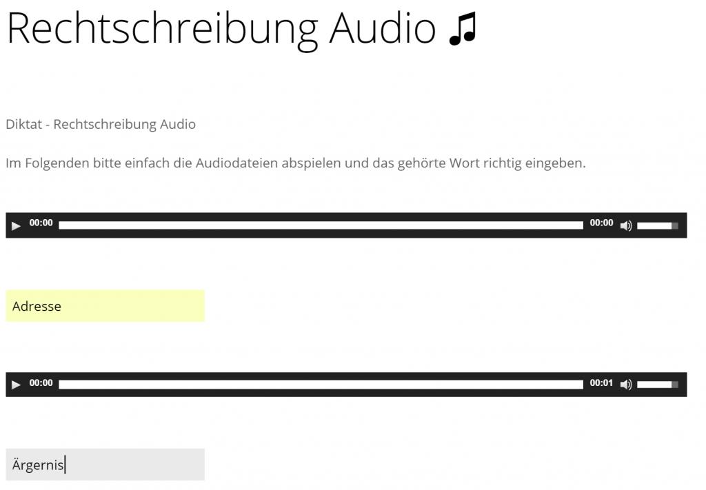 Rechtschreibung audio Screenshot
