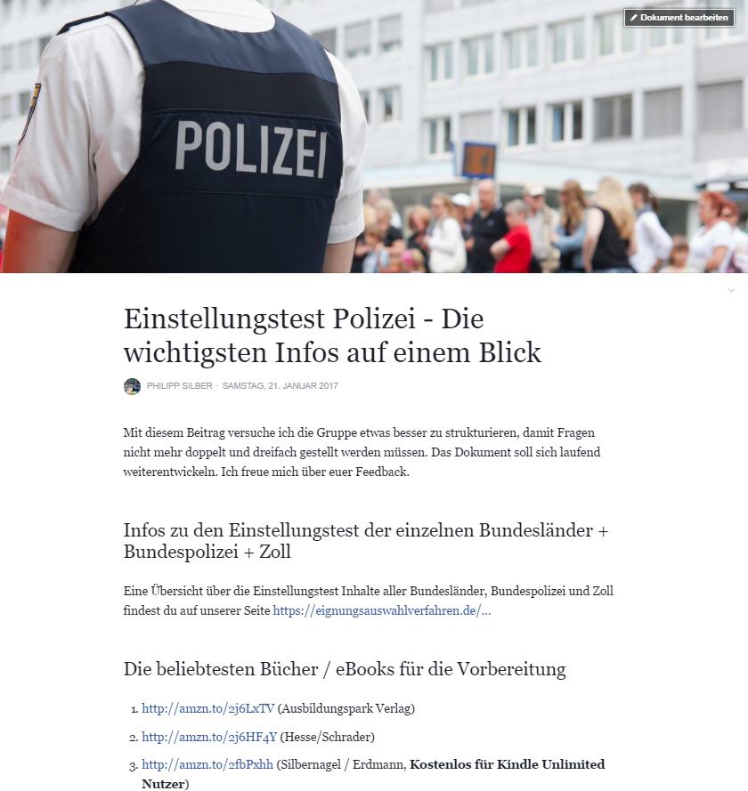 Polizei Einstellungstest - Die wichtigen Infos auf einem Blick