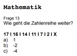 Polizei Einstellungstest Zahlenreihen und Zahlenfolgen mit diesem PDF üben und lösen
