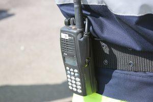 Zur Bereitschaftspolizei gehört auch eine Kommunikationsgruppe dazu