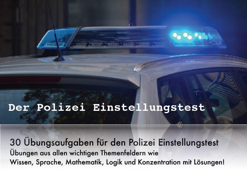 Polizei Einstellungstest als PDF mit Übungsbeispielen